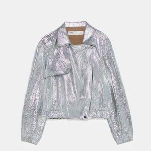 New silver Zara jacket